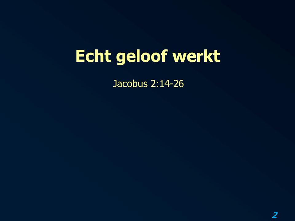 2 Echt geloof werkt Jacobus 2:14-26