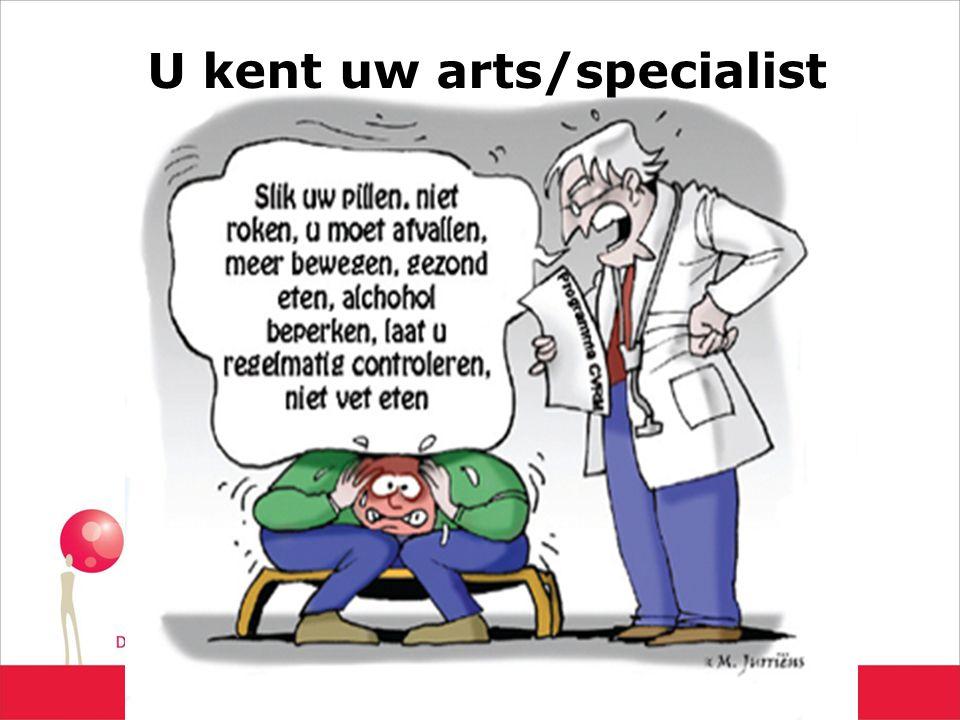 U kent uw arts/specialist
