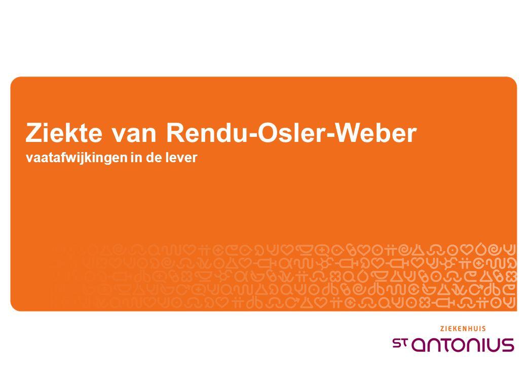 Ziekte van Rendu-Osler-Weber vaatafwijkingen in de lever