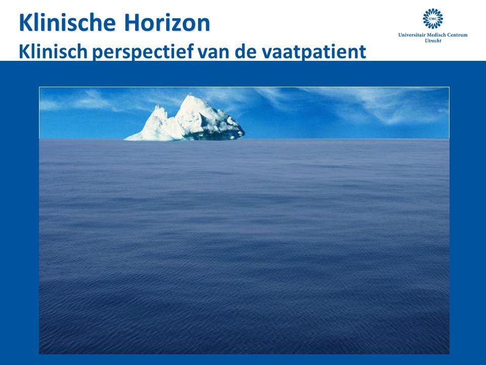 Klinische Horizon Klinische Horizon Klinisch perspectief van de vaatpatient