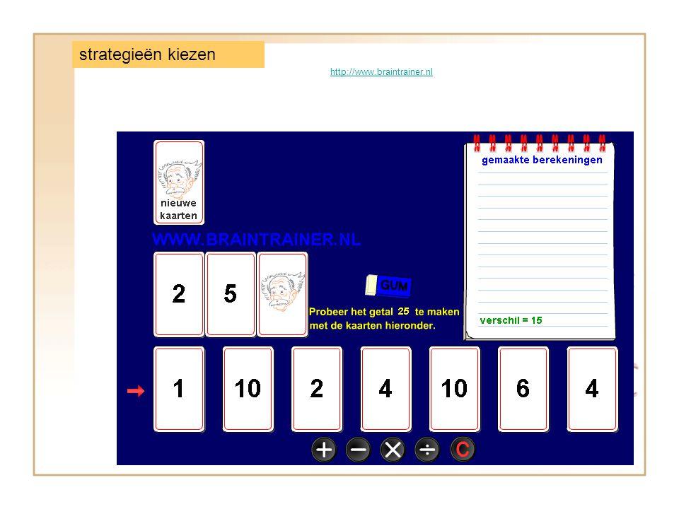 http://www.braintrainer.nl strategieën kiezen