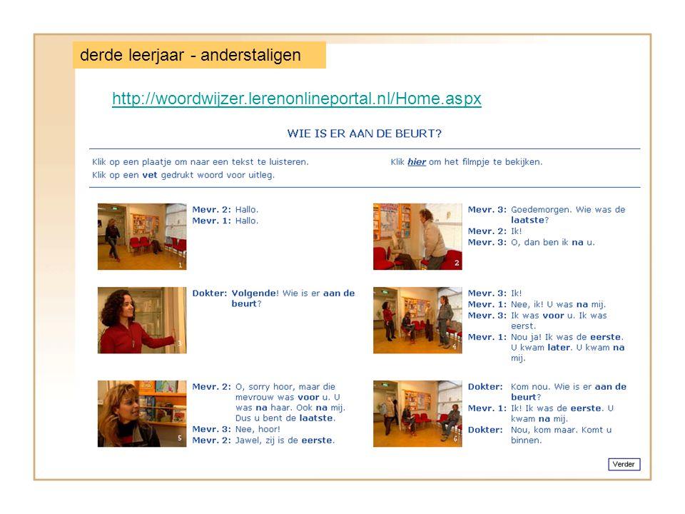http://woordwijzer.lerenonlineportal.nl/Home.aspx derde leerjaar - anderstaligen