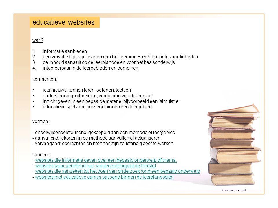 educatieve websites wat .