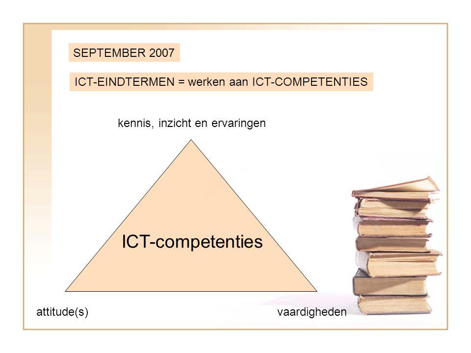 ICT-PLATFORM = vernieuwd in functie van de ICT-competenties