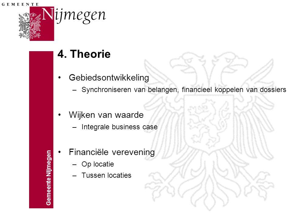 Gemeente Nijmegen 4. Theorie Op locatie Tussen locaties