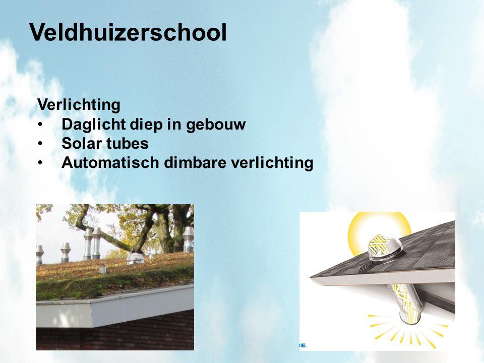 Veldhuizerschool Verlichting Daglicht diep in gebouw Solar tubes Automatisch dimbare verlichting