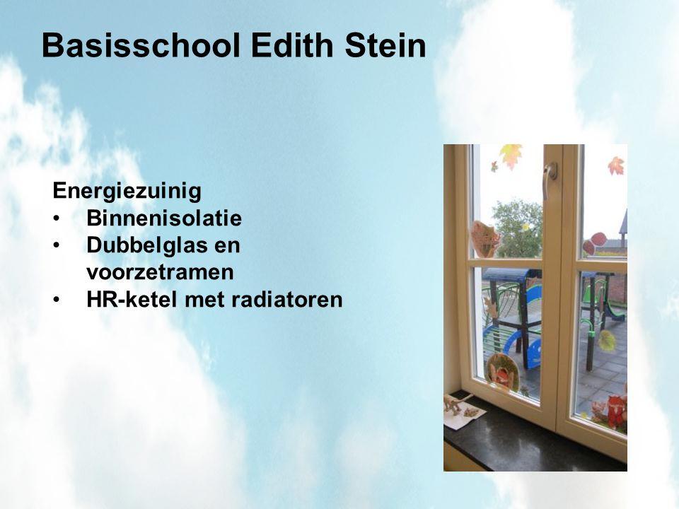 Basisschool Edith Stein Energiezuinig Binnenisolatie Dubbelglas en voorzetramen HR-ketel met radiatoren