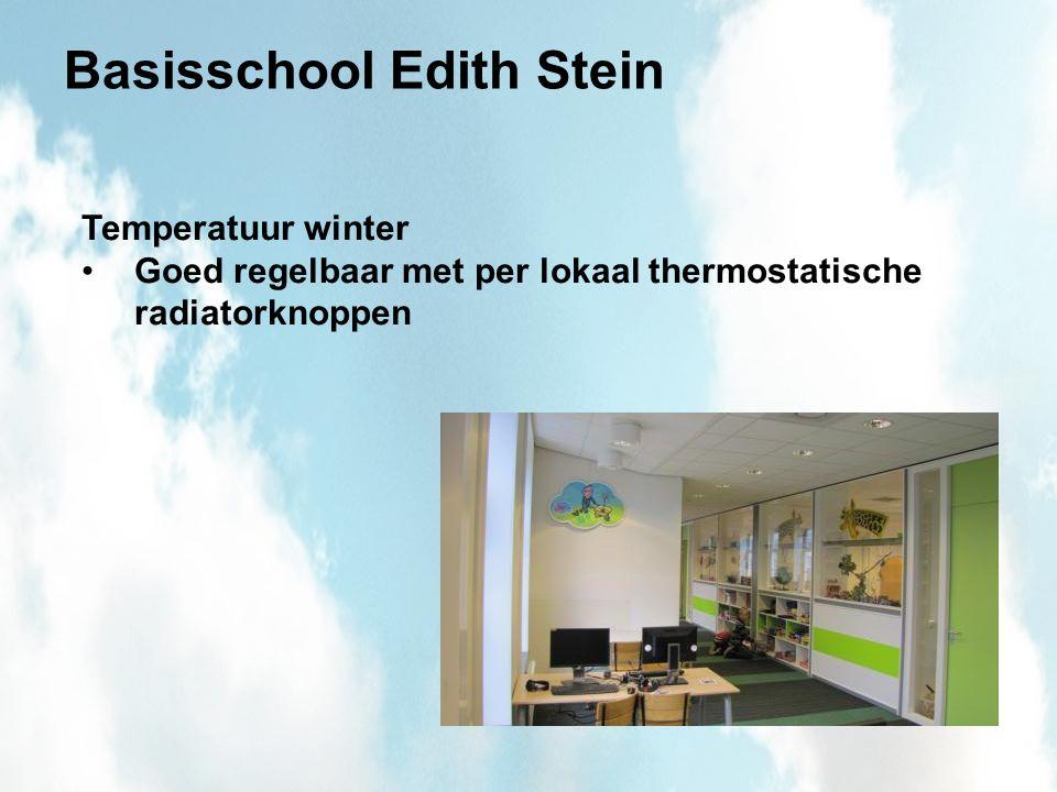 Basisschool Edith Stein Temperatuur winter Goed regelbaar met per lokaal thermostatische radiatorknoppen