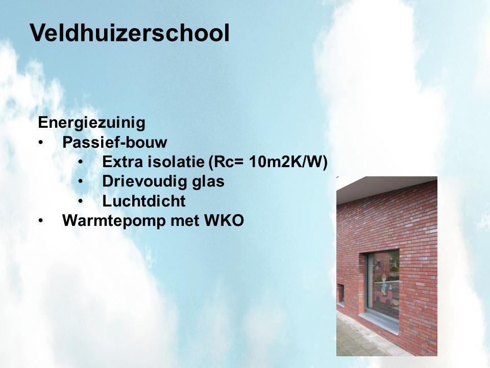 Veldhuizerschool Energiezuinig Passief-bouw Extra isolatie (Rc= 10m2K/W) Drievoudig glas Luchtdicht Warmtepomp met WKO