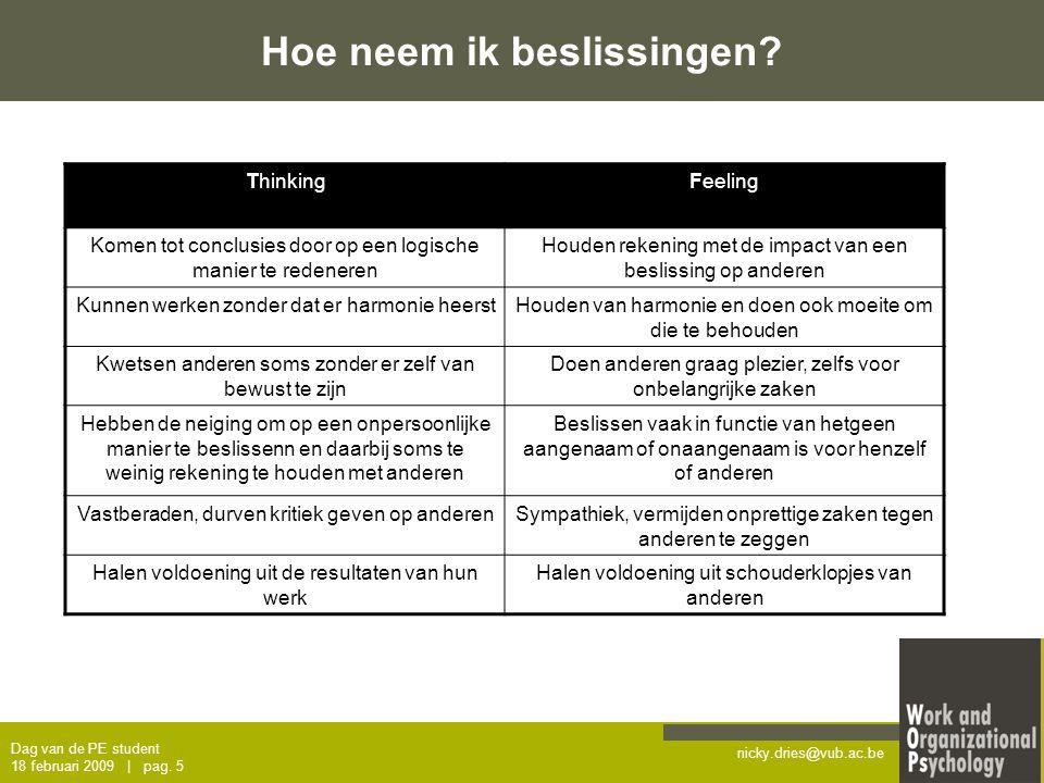 nicky.dries@vub.ac.be Feedback.Vragen. Stad Antwerpen 5 februari 2009 | pag.