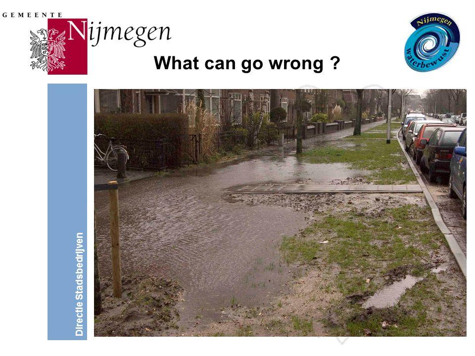 Directie Stadsbedrijven What can go wrong