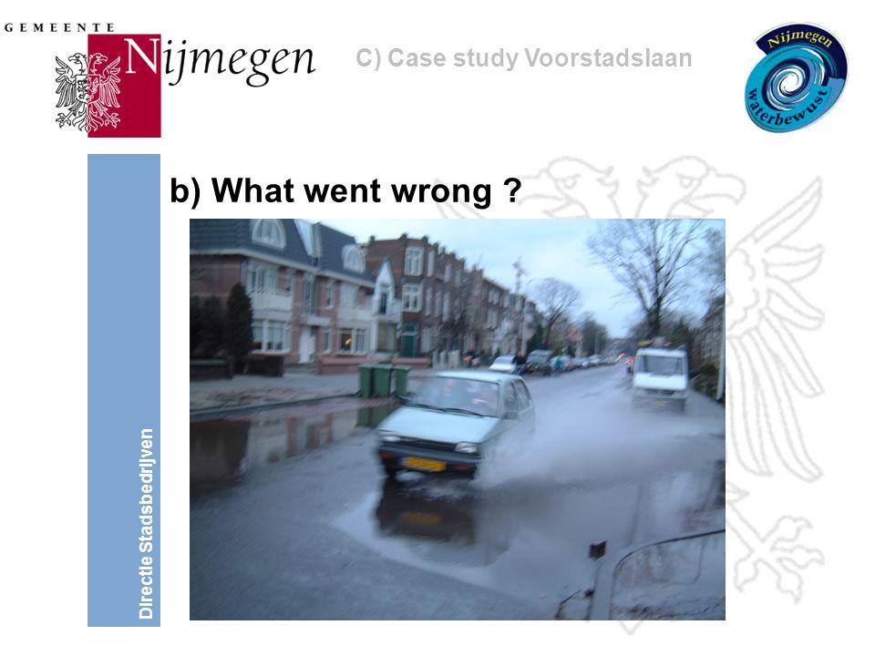 Directie Stadsbedrijven b) What went wrong C) Case study Voorstadslaan