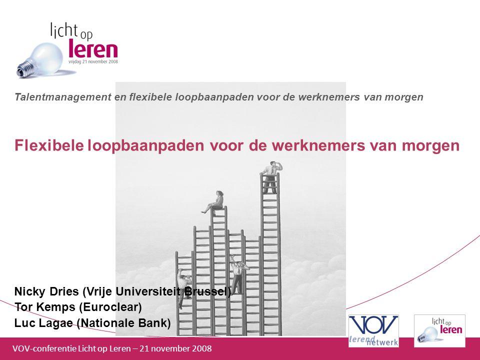 VOV-conferentie Licht op Leren – 21 november 2008 Talentmanagement en flexibele loopbaanpaden voor de werknemers van morgen Flexibele loopbaanpaden vo