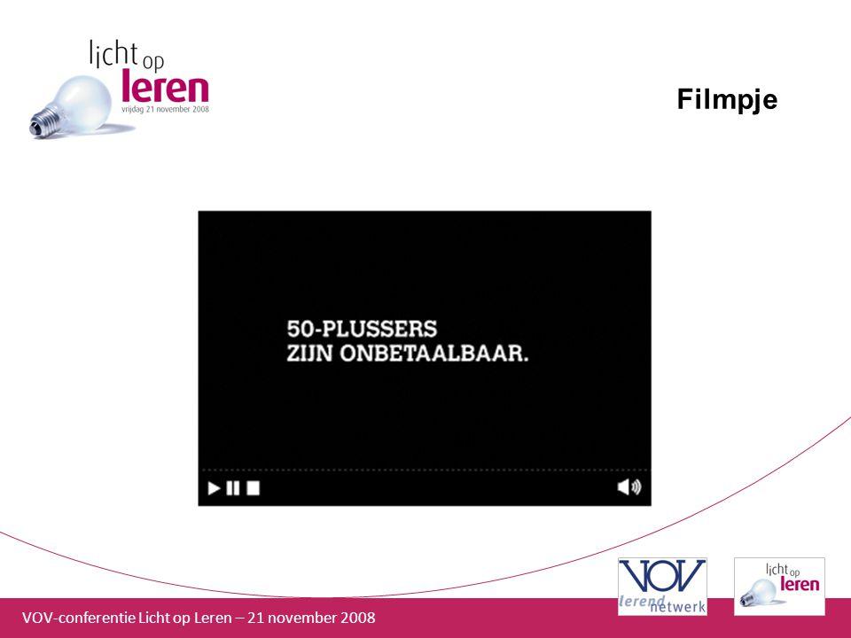 VOV-conferentie Licht op Leren – 21 november 2008 Filmpje
