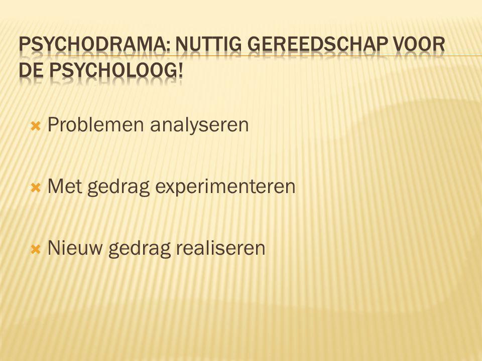  Problemen analyseren  Met gedrag experimenteren  Nieuw gedrag realiseren