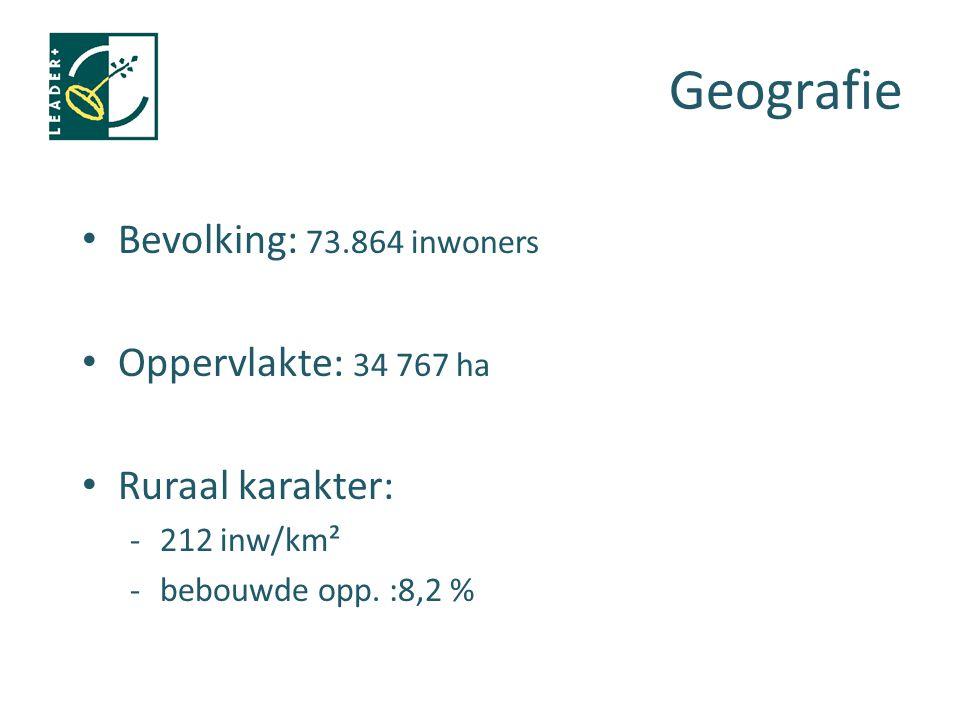 Bevolking: 73.864 inwoners Oppervlakte: 34 767 ha Ruraal karakter: -212 inw/km² -bebouwde opp. :8,2 %