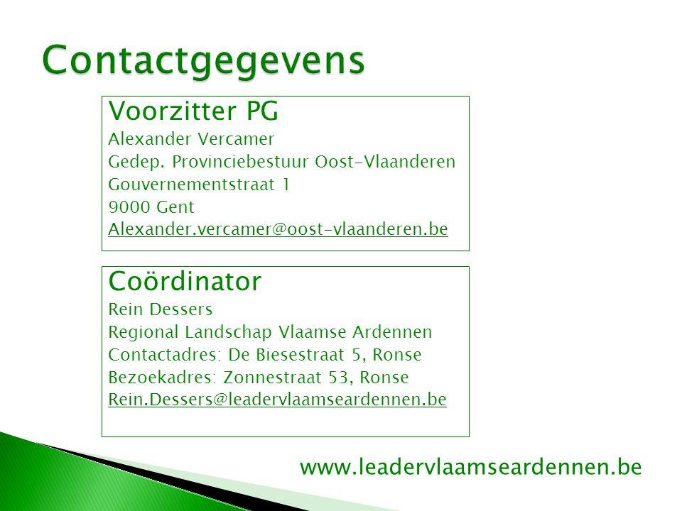 Voorzitter PG Alexander Vercamer Gedep.