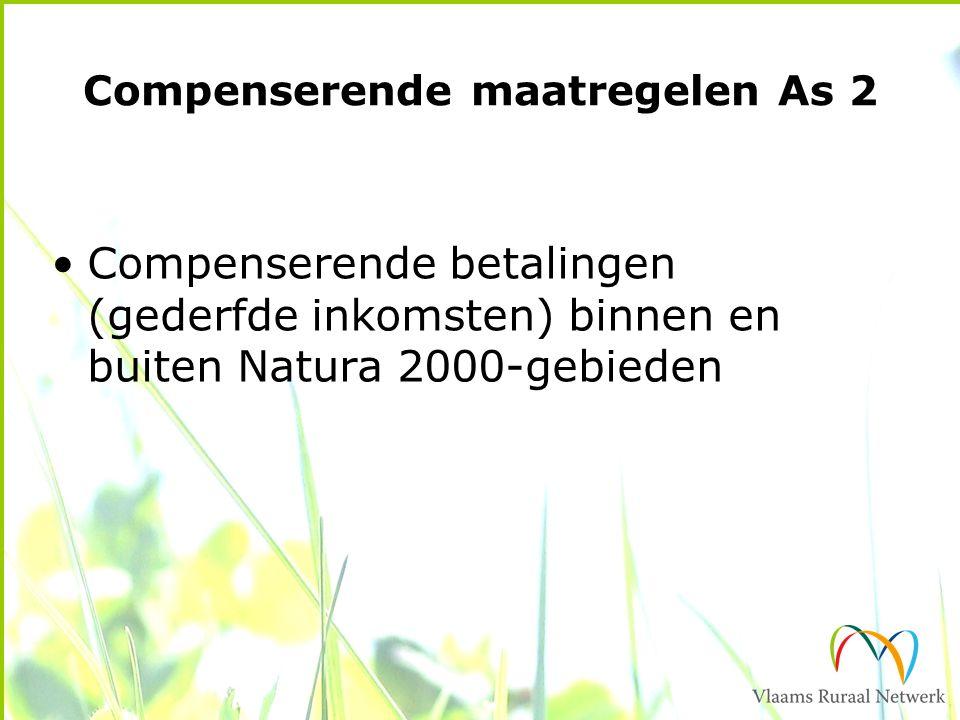 Compenserende maatregelen As 2 Compenserende betalingen (gederfde inkomsten) binnen en buiten Natura 2000-gebieden