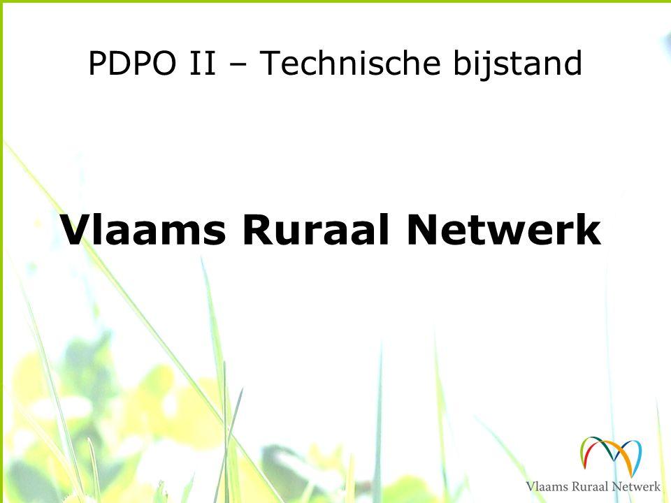 PDPO II – Technische bijstand Vlaams Ruraal Netwerk