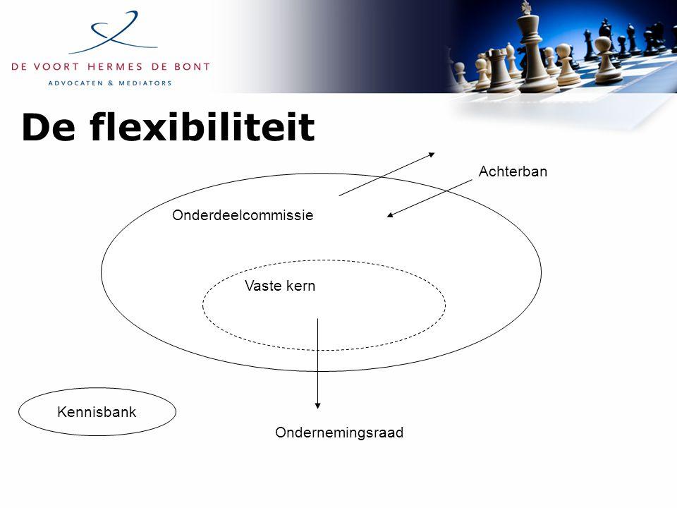 De flexibiliteit Onderdeelcommissie Vaste kern Achterban Ondernemingsraad Kennisbank
