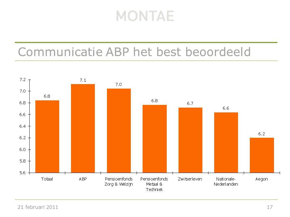 Communicatie ABP het best beoordeeld 21 februari 201117