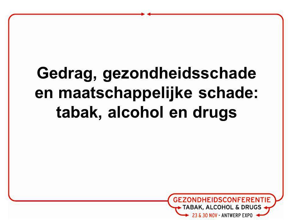 Gedrag, gezondheidsschade en maatschappelijke schade: tabak, alcohol en drugs