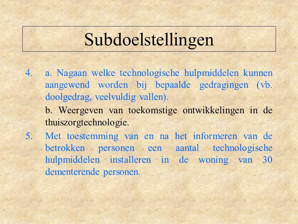 Subdoelstellingen 4.a.