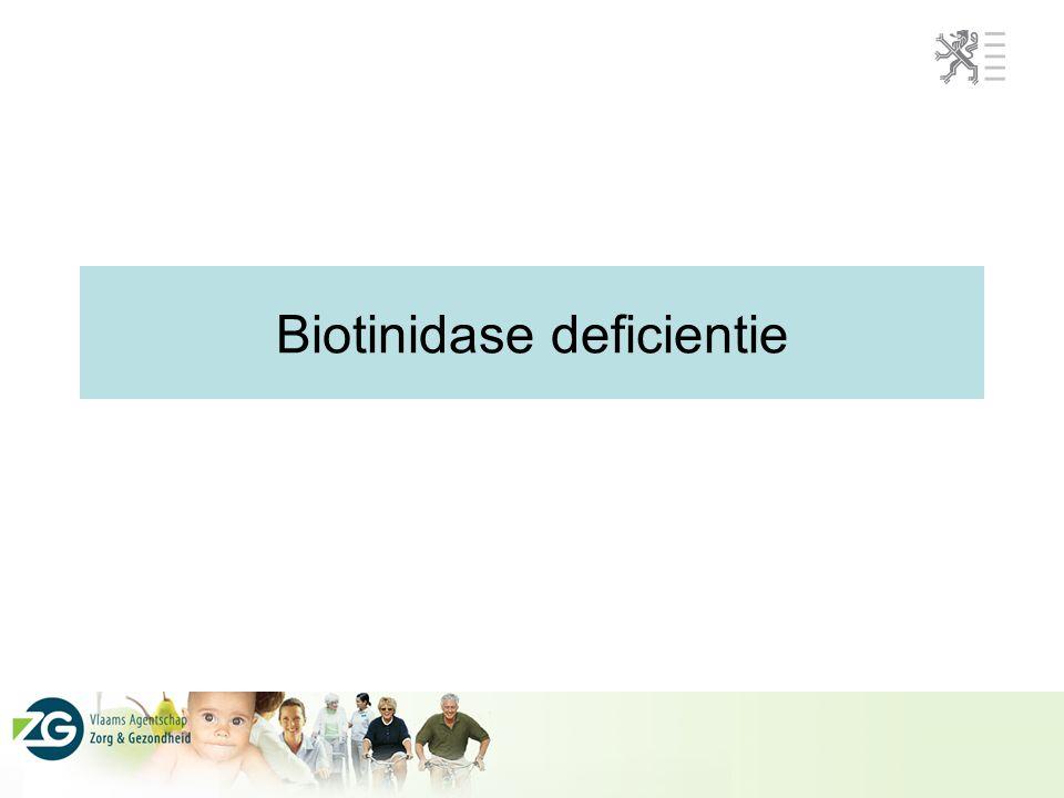Biotinidase deficientie