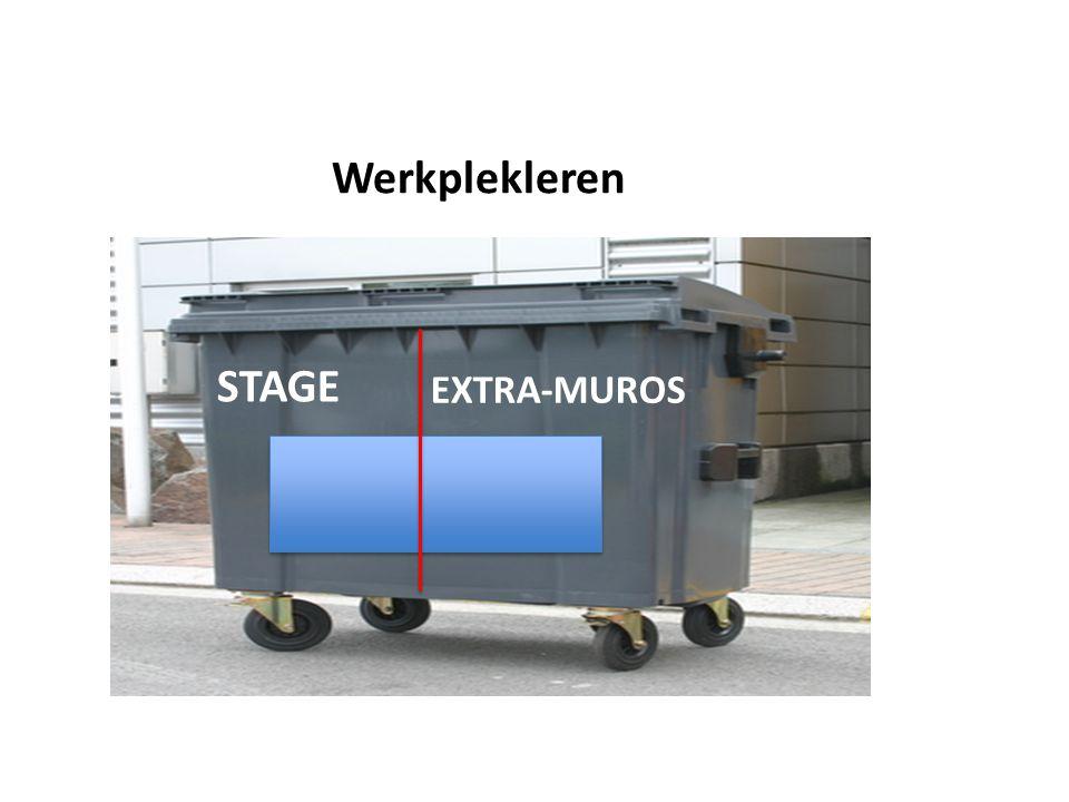 Werkplekleren STAGE EXTRA-MUROS