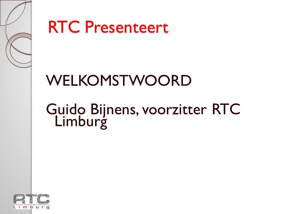 RTC Presenteert 2010-2011 – een overgangsjaar Einde van de lopende beheersovereenkomst op 31/12/2010 Evaluatie van de huidige RTC-werking Nieuwe beheersovereenkomst m.i.v.
