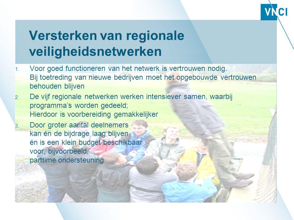 Versterken van regionale veiligheidsnetwerken 1.
