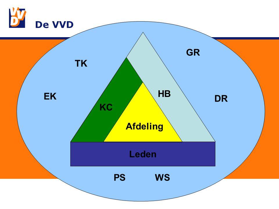 Leden De VVD Leden KC Afdeling HB TK EK GR DR PSWS