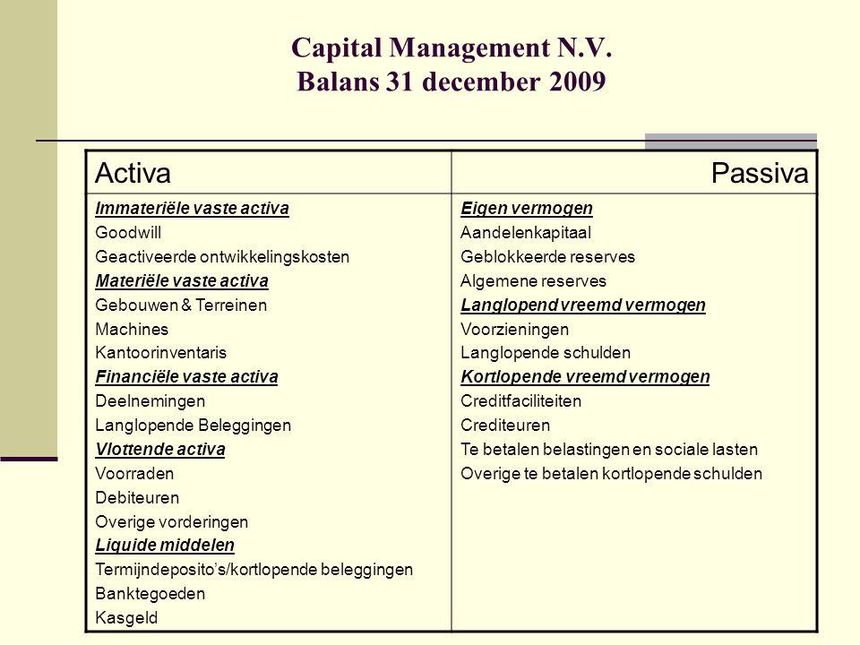 Balansanalyse Voorzieningen: Een voorwaardelijke verplichting, waarbij het onzeker is of er sprake zal zijn van een daadwerkelijke afwikkeling hiervan in de vorm van een betaling door het bedrijf Voorziening groot onderhoud Calamiteitenvoorziening Voorziening pensioenverplichtingen (VUT/ Duurtetoeslag) Voorzieningen vaak instrument in het kader van 'earnings management' (beïnvloeding van de resultaatontwikkeling)