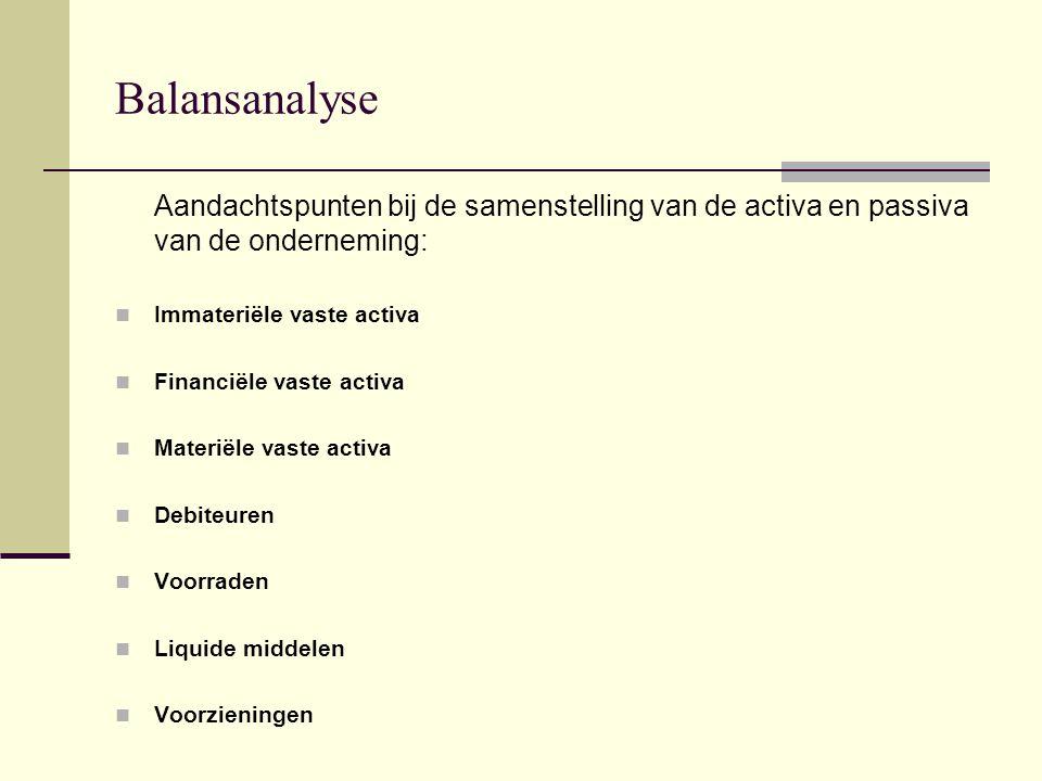 Balansanalyse Immateriële vaste activa (1): Activa die niet tastbaar zijn.