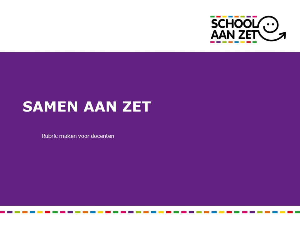 Doel Opbrengsten koppelen aan gedrag van docenten.