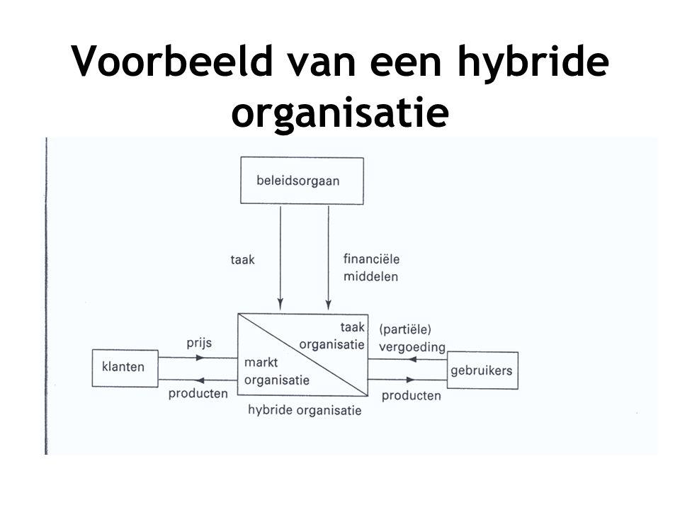 Voorbeeld van een hybride organisatie
