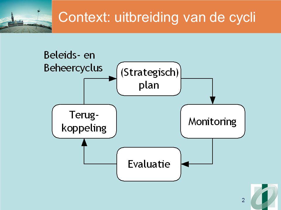 2 Context: uitbreiding van de cycli
