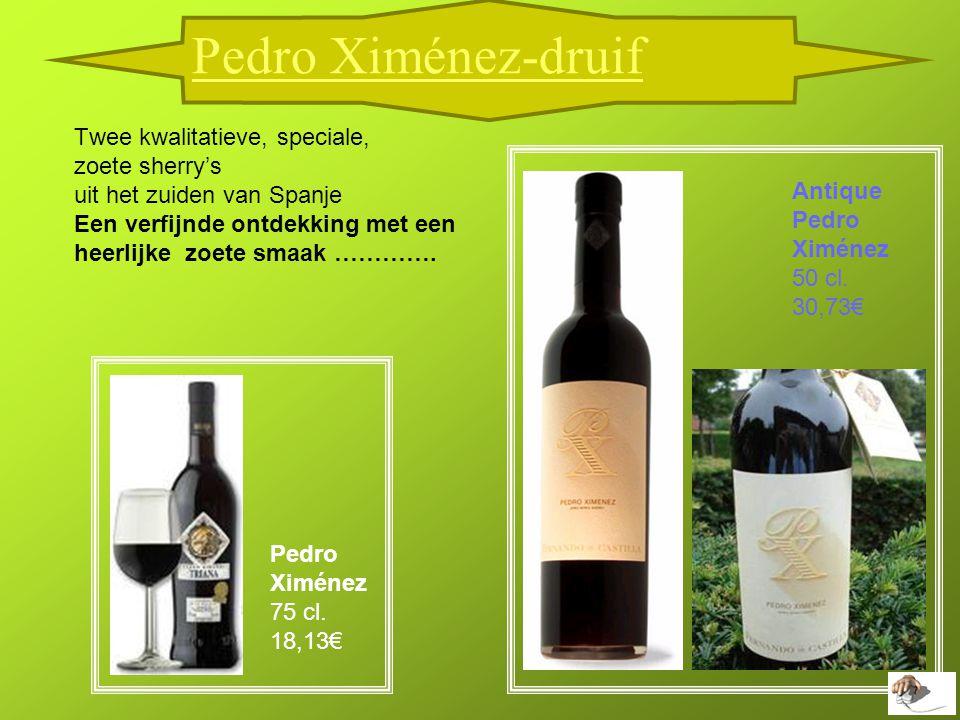 Twee kwalitatieve, speciale, zoete sherry's uit het zuiden van Spanje Een verfijnde ontdekking met een heerlijke zoete smaak ………….