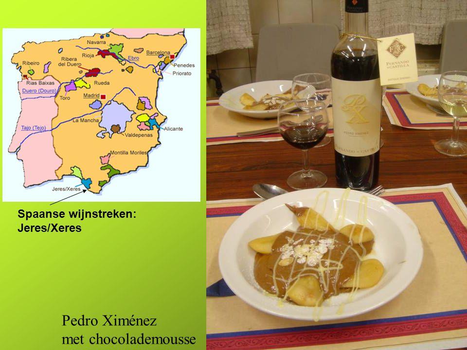 Spaanse wijnstreken: Jeres/Xeres Pedro Ximénez met chocolademousse