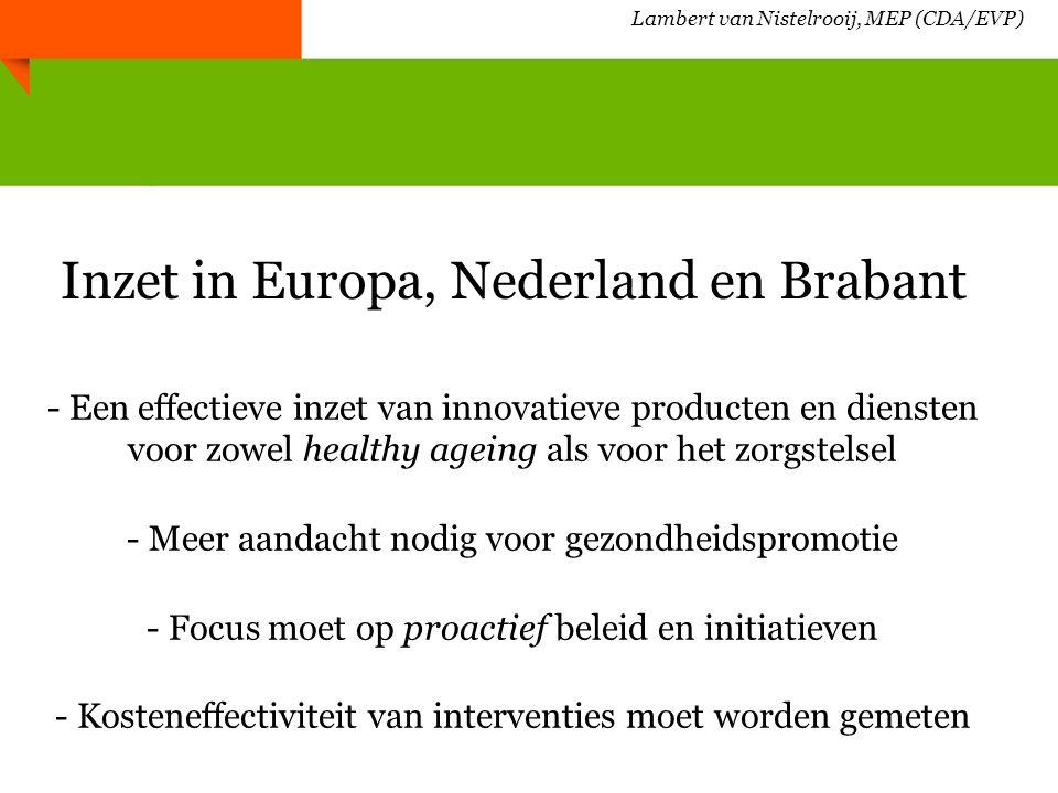 Lambert van Nistelrooij, MEP (CDA/EVP) Brochure Age Intergroup, Brussel