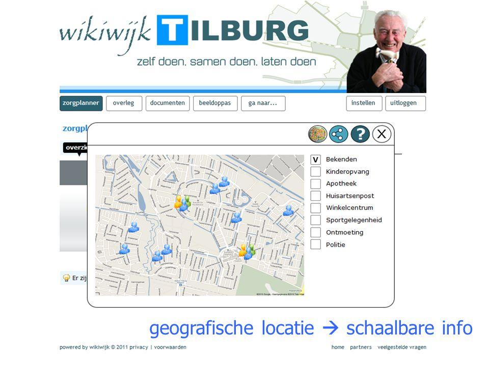 geografische locatie  schaalbare info