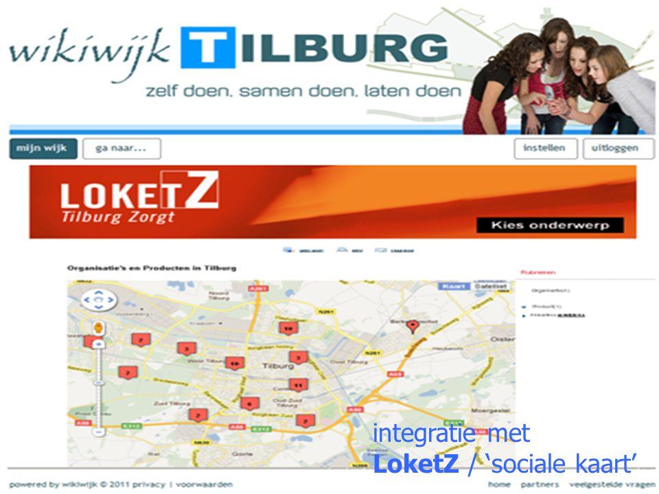 integratie met LoketZ / 'sociale kaart'