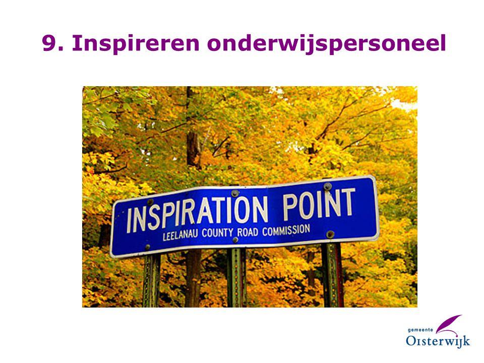 9. Inspireren onderwijspersoneel