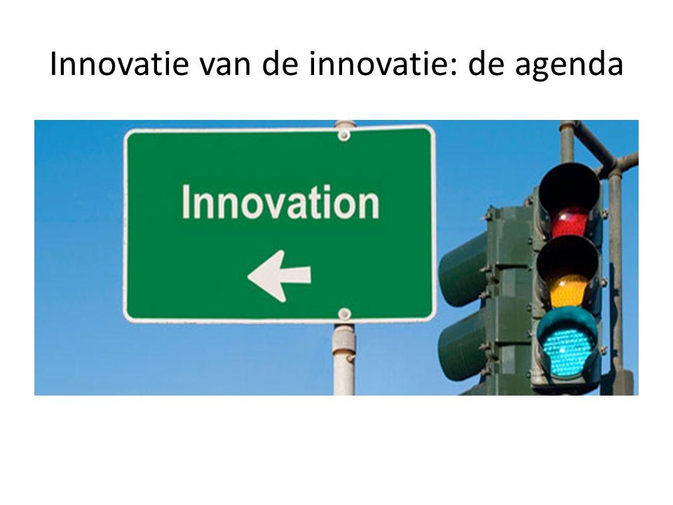Innovatie van de innovatie: de agenda