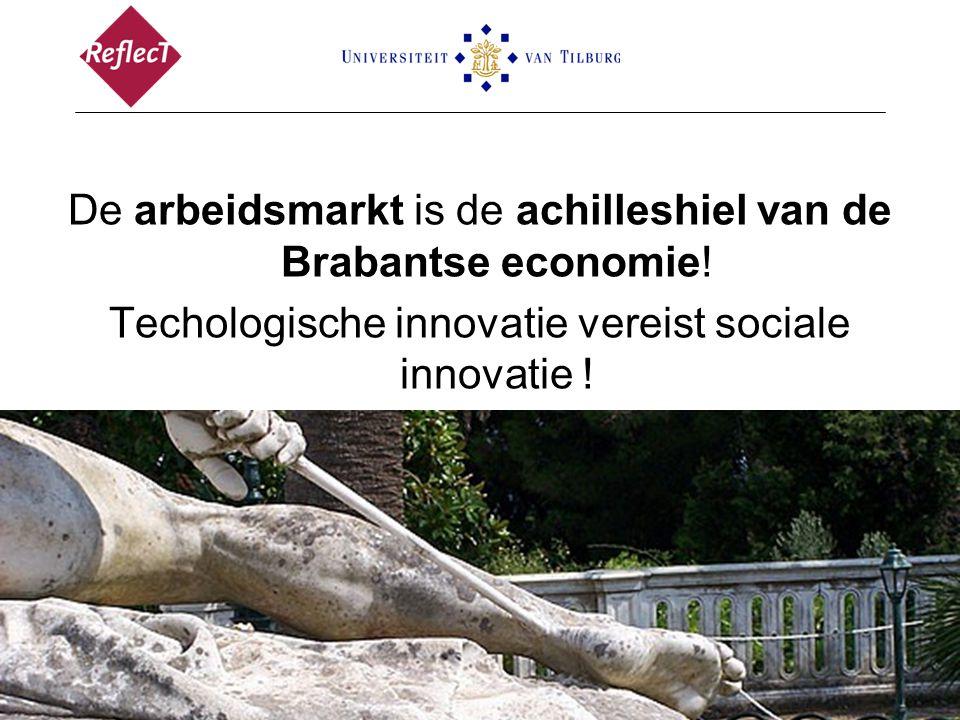 De arbeidsmarkt is de achilleshiel van de Brabantse economie! Techologische innovatie vereist sociale innovatie !