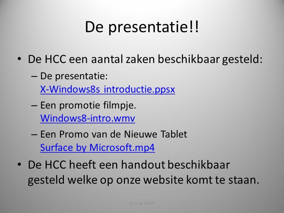 De presentatie!.