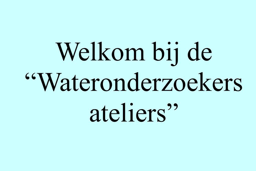 Welkom bij de Wateronderzoekers ateliers