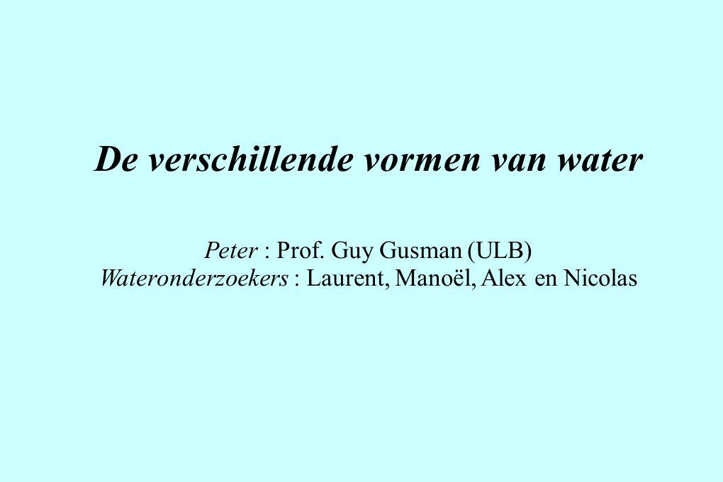 De verschillende vormen van water Peter : Prof.