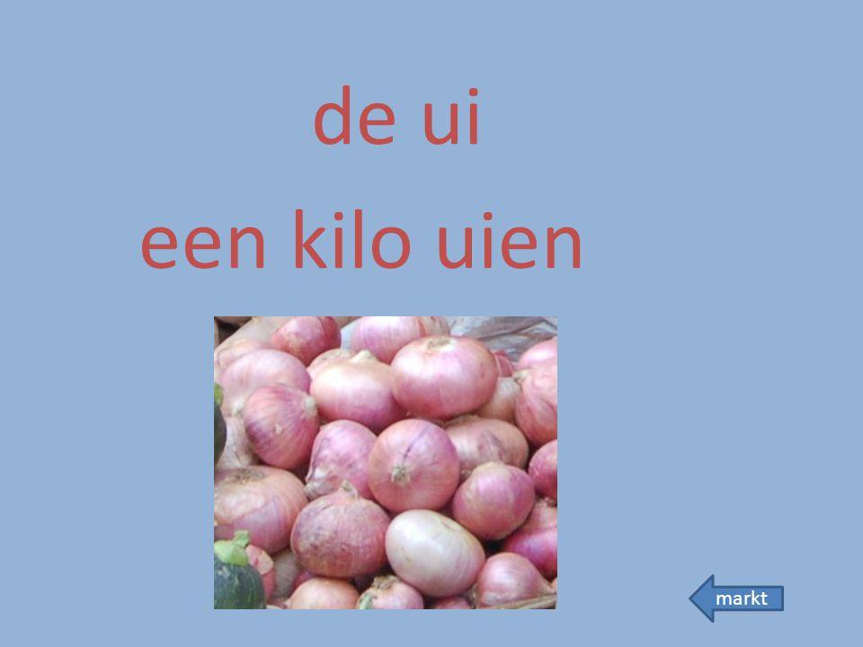 de ui een kilo uien markt