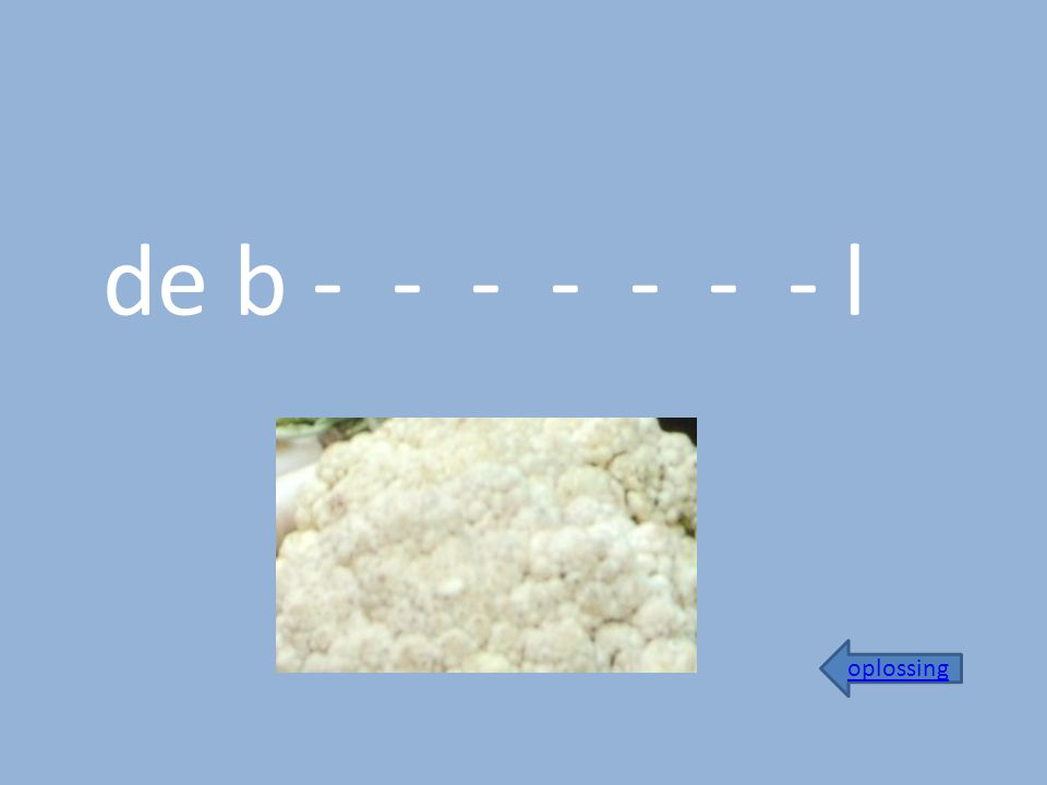 de b - - - - - - - l oplossing